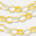 YELLOW White Polka Dot Spot Style Party Paper Chain Garland Decoration