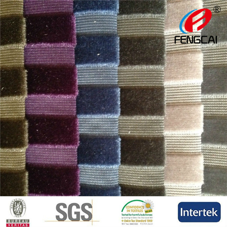 China Manufacturer produced new design blue and black stripe fabric for sofa