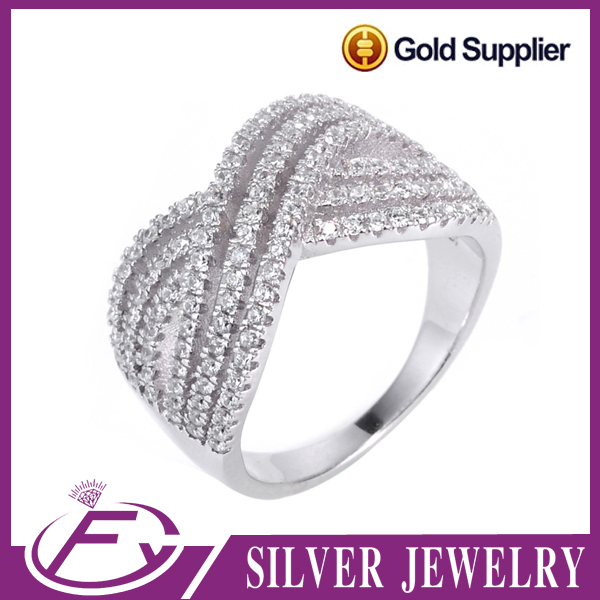 China factory cz stone rings 925 sterling silver jewelry wholesale