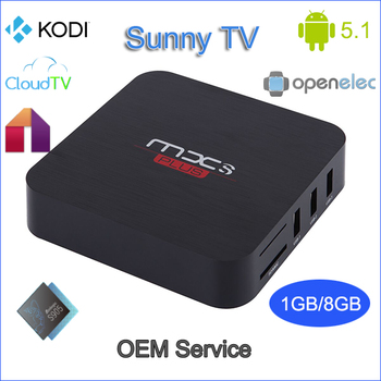 Cheaper amlogic s905 Android 5.1 mxs plus tv box with 1GB DDR3 8GB EMMC Flash wifi 2.4G fully loaded kodi