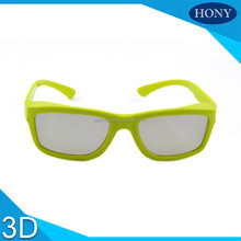 Plastic passive custom anaglyph circular polarized 3d glasses for 3d movie