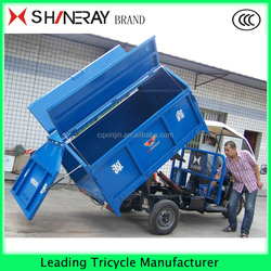 Chongqing China 2016 newest hydraulic dumper tricycle three wheeler garbage tricycle for sale