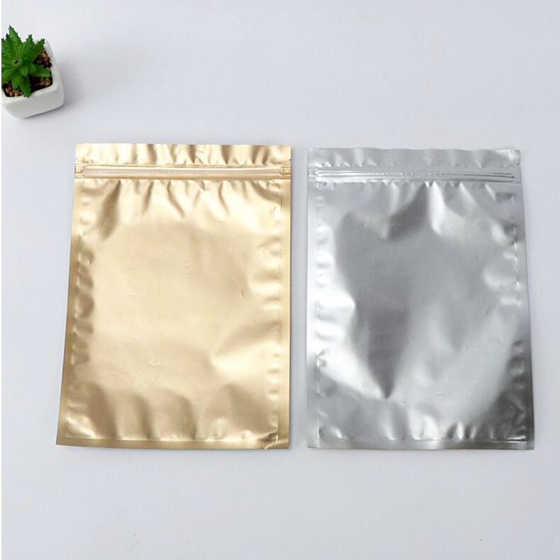 Factory wholesale heat sealed resealable small aluminum foil mylar custom mini ziplock bag for food packaging