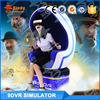 360 full viewing VR Glasses virtual reality 9D simulator with roller coaster game