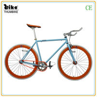 700C bule hot style alloy frame and parts single speed bicycle