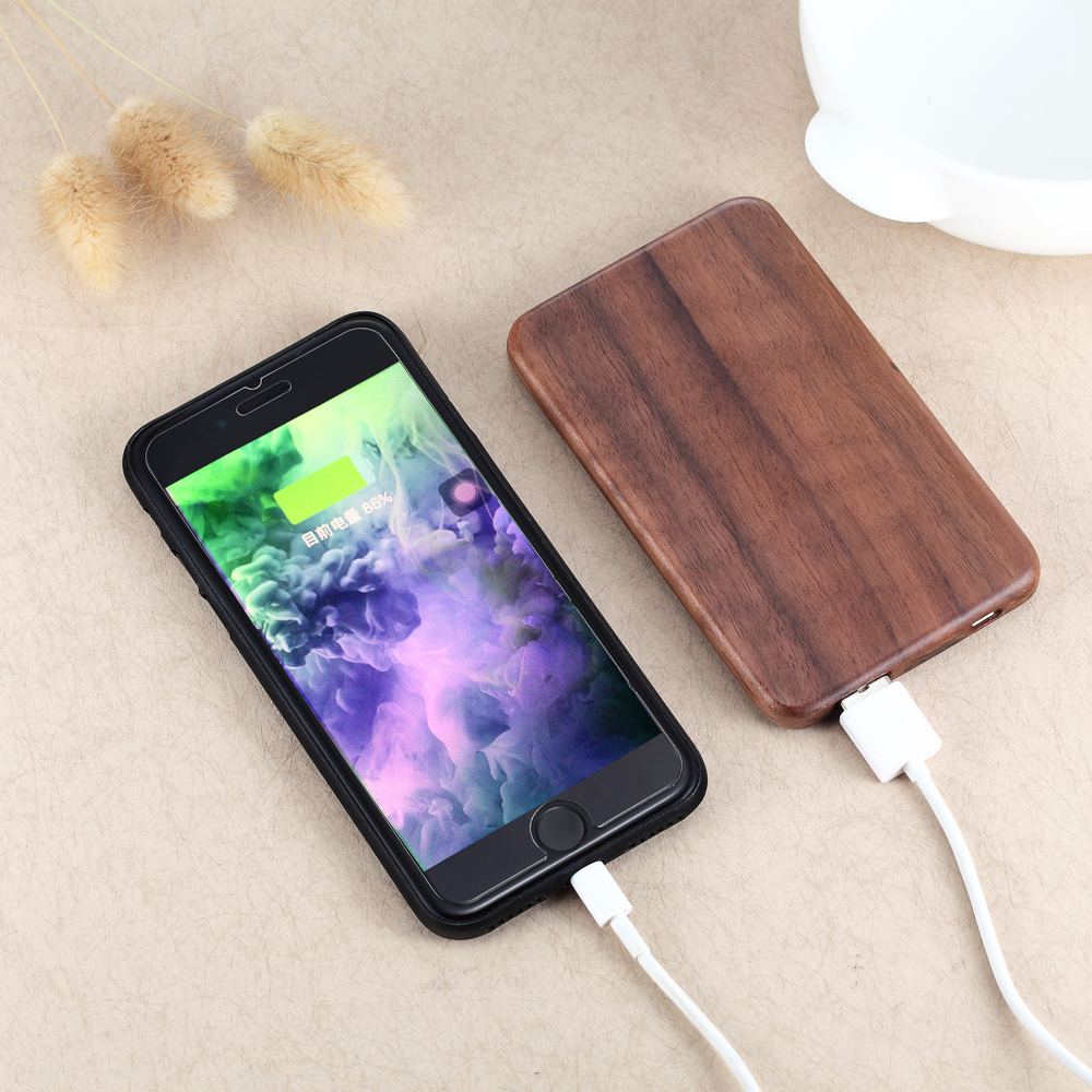 Strict Time Control Manufacturer Natural Wood hot sexi move portable power bank