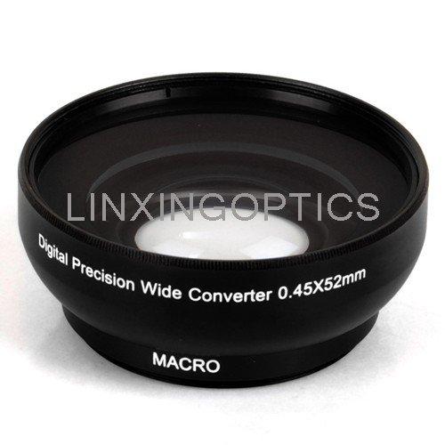 0.45x52mm wide angle conversion lenses camera lenses