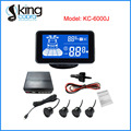 Automatic Front & Rear Parking Sensor System with Audible Alert and Blue LCD Display