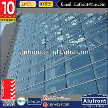 economic structural aluminum glass curtain wall system