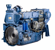 Low Fuel Wd10 125kw Marine Engine Weichai Diesel Boat Engine
