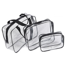 2017 new design PVC Clear vinyl cosmetic bags high quality make up bag