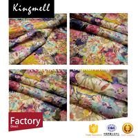 2016 Wholesale Custom Digital Print Europe Floral Chiffon Silk Fabric