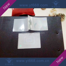 Transparent hologram overlay pouch for card