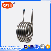 Chilled water cooling coil,water heating coils small,titanium coil