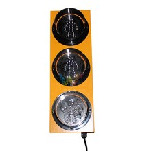 Overseas LED Pedestrian Traffic Signal Light 5 Inch Light Module Yellow Light Bar with Pole