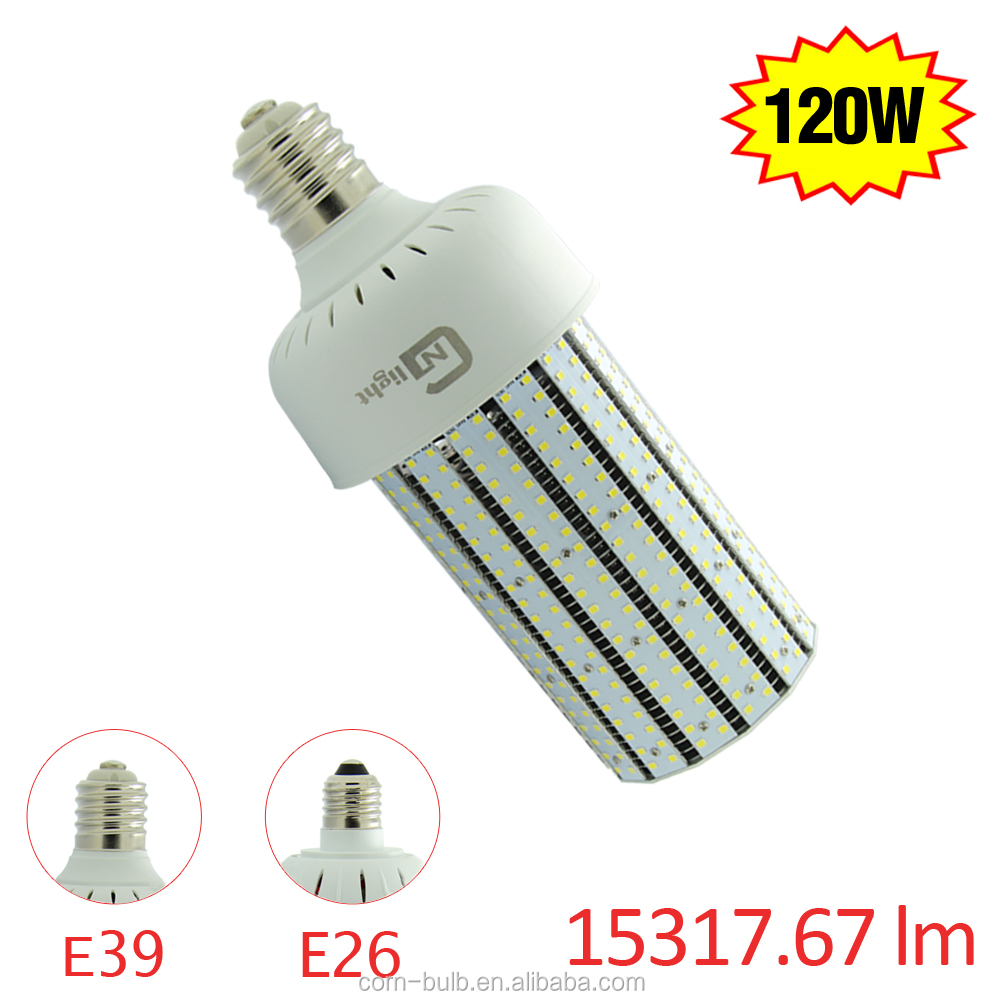 15317.6Lm 120W Replace 400W LED Corn Bulb Mogul Base E39 E40 5000K AC100-277V 360 Degree Flood Light LED Corn Light Bulb