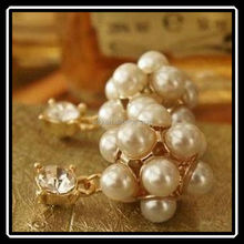 2015 Newest Arrival Unique Simulated Pearl Stud Earrings New Design Wholesale Top Quality