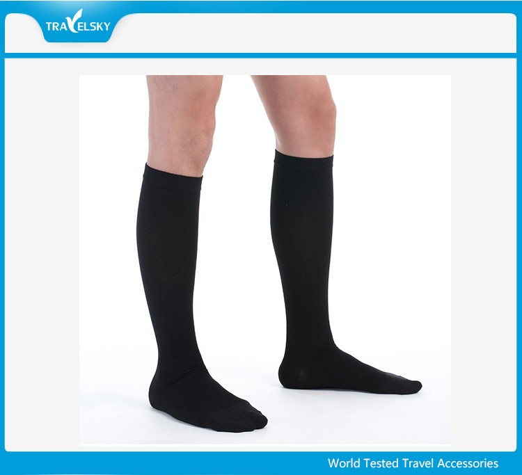 China Flight Sock Manufacturer Custom Bamboo Fiber Compression Sock