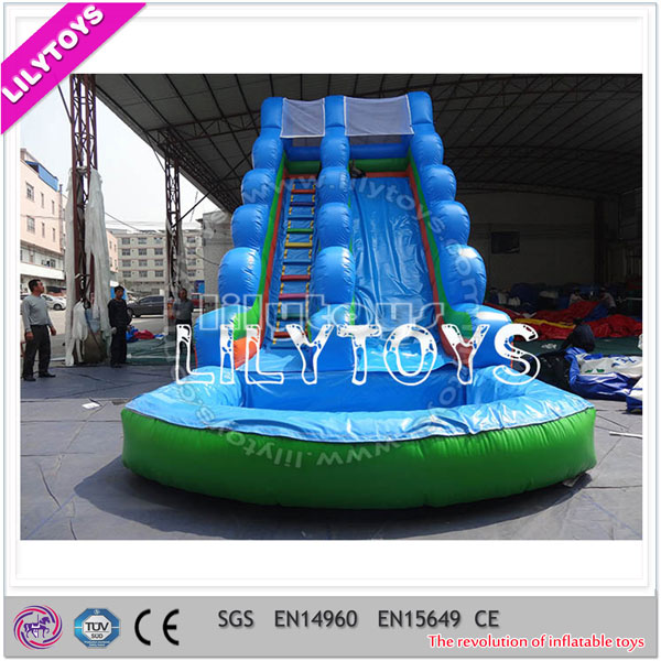 ISO9001 Lily Toys CE outdoor Inflatable Water Slides for sale