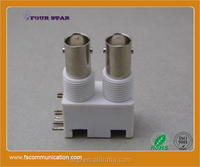 BNC Connector Female Right Angle Dual Stack For PCB Mount