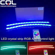 2016 Newest WIFI control RGB led DRL day light,Phone RGB flexible DRL Running,Colorful Phone App LED daytime running