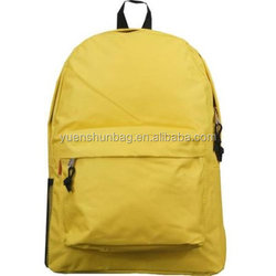yellow school bag backpack with front pocket