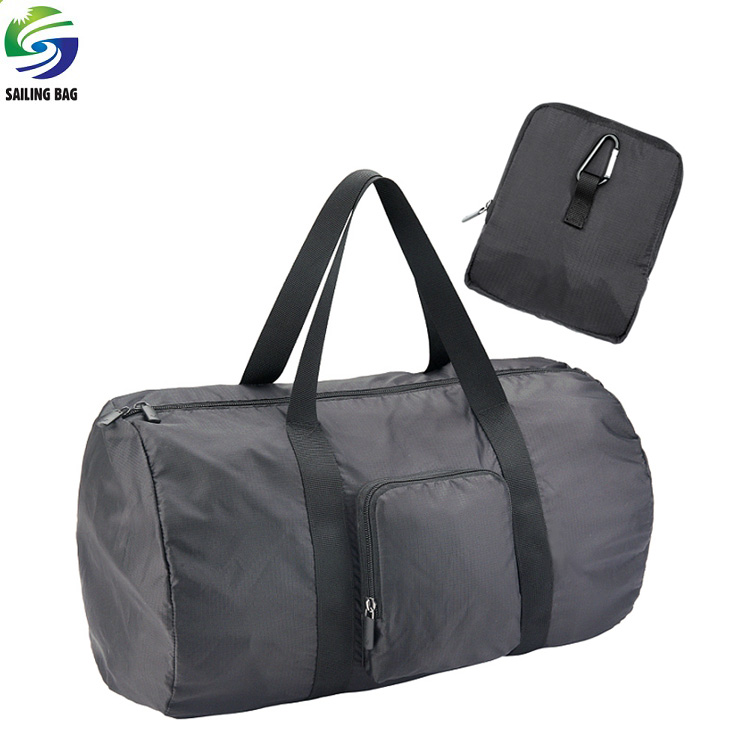 China wholesale cheap promotional polyester foldable travel duffle bag with custom logo