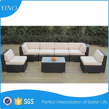 7pcs set Classic Sofa Furniture With Waterproof Cushion SF0003