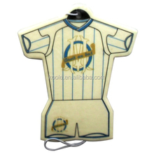 baseball jersey shaped make hanging paper car air freshener