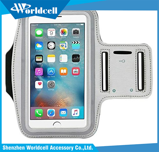fingerprint touch supported sport armband for smartphone with card pockets and key slot