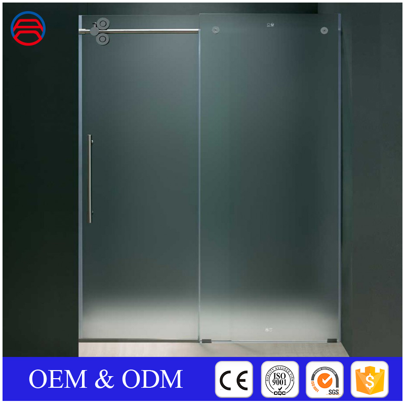 alibaba high quality shower sliding doors frosted tempered glass door