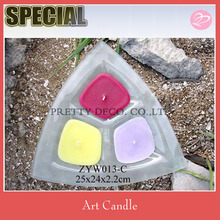 Colored flames garden candle