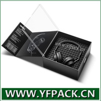 hot new products for 2014 magnetic closure earphone box packaging