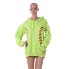 Wholesale Hot Sale Monogrammed Softball And Baseball Hoodie With Pockets