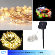 LED Outdoor Solar Powered Waterproof Starry Fairy Lighting New Year's Christmas Decoration String Lights