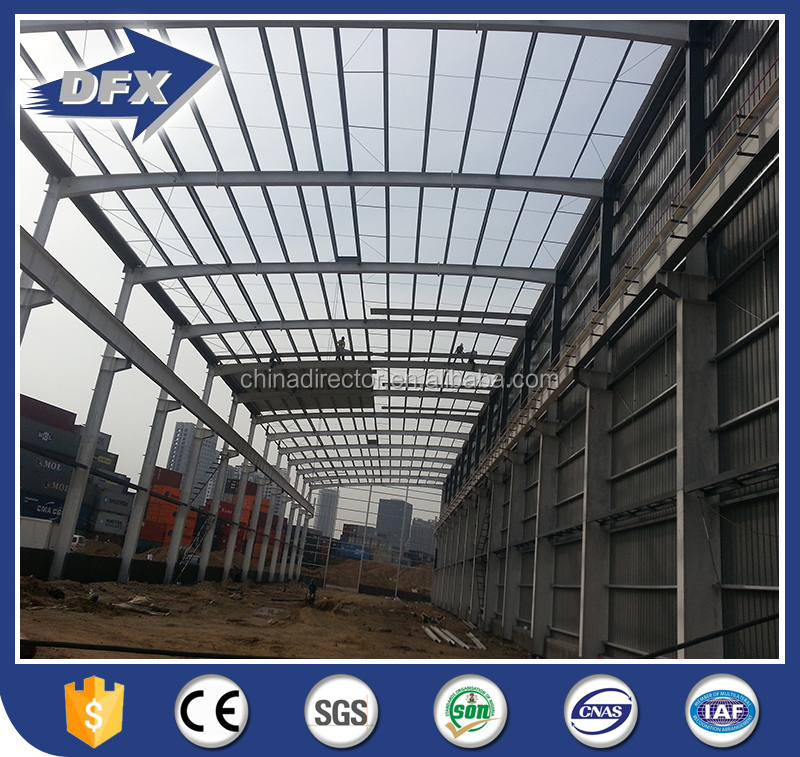 bolted connection galvanized prefab steel structure warehouse