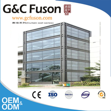 High quality China factory price reflective glass aluminium curtain wall for commerical building