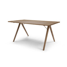 Commerical rectangle solid wood dining table for restaurant