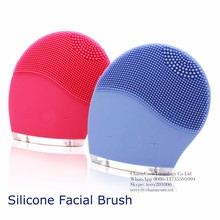 Mini electric facial cleaning massage brush sonic face washing machine waterproof silicone face cleanser dirt remove brush
