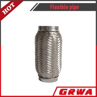 Stainless steel high pressure flexible heat resistant pipe with interlock
