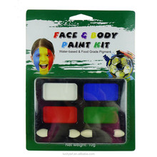 Best Selling World Cup Football Sports Fans Non Toxic Face Paint Fast Delivery Popular Tattoo Party Fun Neon Art Face Body Paint