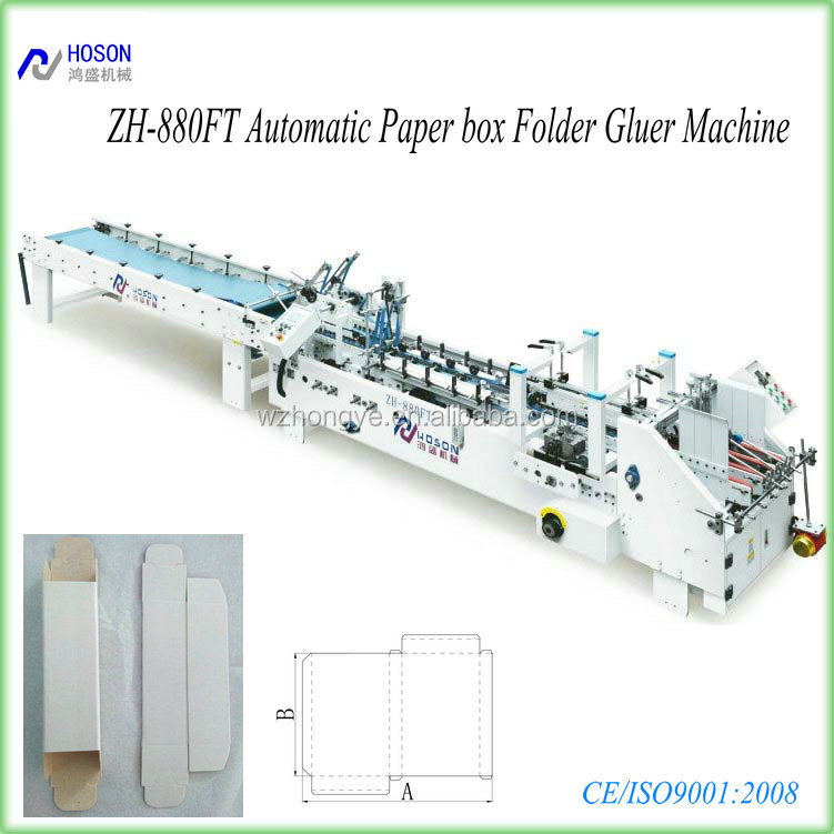 ZH-880BFT-H High Speed Cardboard and Paperbox Folder and Gluer Machine