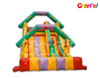 Colorful Inflatable Double Slide like House Roof and Balloon