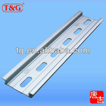 RoHS compliant 35 x 7.5 mm 1 meter aluminum slotted DIN rail