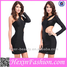 wholesale hollow out black official dresses for women