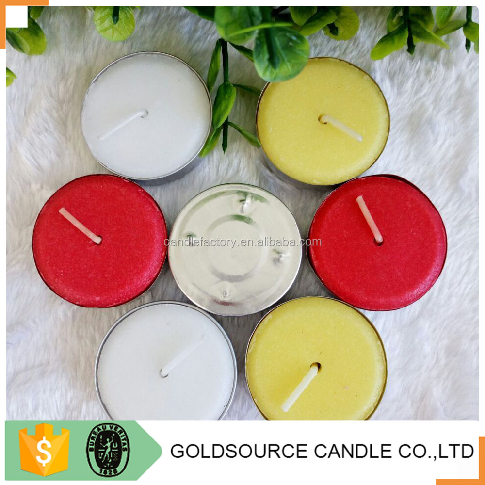 Wholesale white tea lights wax candle manufacturer