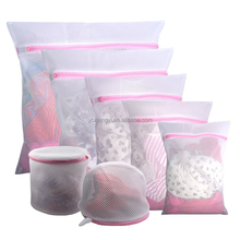 Promotional large medium small nylon wash laundry bag Mesh Lingerie Delicates Wash Bag for underwear bra socks