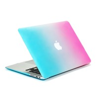 2016 New Fashion rainbow series Laptop Protective plastic case for macbook pro/air/retina