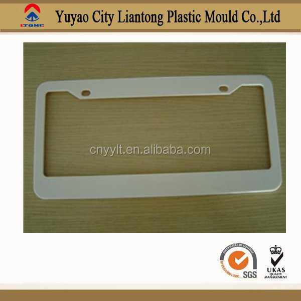 top sales better quality plastic ABS chrome license plate frame customized plate