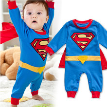 Unisex Gender and Infants & Toddlers baby romper cotton Superman baby romper